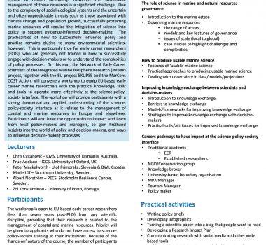 IMBER workshop program