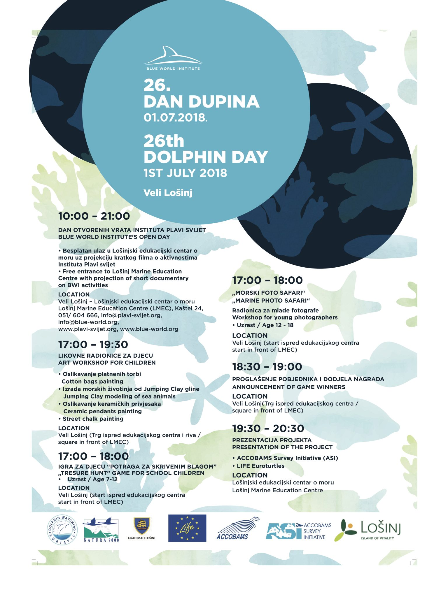 26th Dolphin Day in Veli Lošinj | Blue World Institute